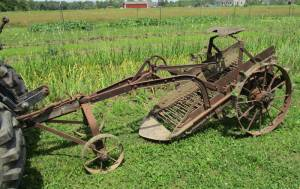 We  believe this to be a 1930 John Deere potato digger.