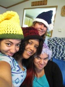 Kara, Lindelle, Tina, Mom (back)